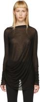 Rick Owens Lilies Black Draped T-shirt