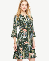 Ann Taylor Reed Garden Fluted Sleeve Dress