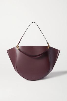 Wandler Mia Large Leather Shoulder Bag - Burgundy