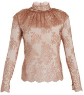 Bella Freud Lady Jane sheer floral-lace blouse