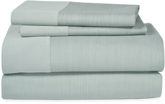 Michael Aram Striated Band 400 Thread Count Fitted Sheet