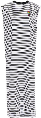 Être Cécile Appliqued Striped Cotton-jersey Midi Dress
