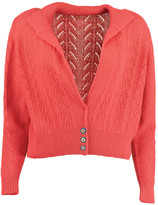 Lowie Red Cashmere Lacy Cardigan - M - Red