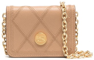 See by Chloe Logo-Plaque Chain-Strap Wallet