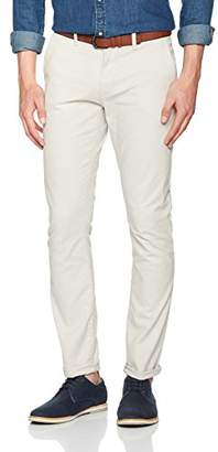 Tom Tailor Men's Skinny Chino Solid with Belt Trouser, (Beige Grey 2654), W29/L32 (Size: 29)