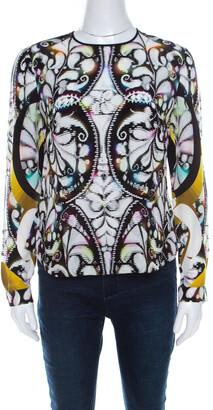 Peter Pilotto Multicolor Paisley Print Silk Long Sleeve Blouse S