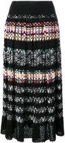 Missoni pleated zig-zag stripe skirt - women - Silk/Cotton/Spandex/Elastane/polyester - 42
