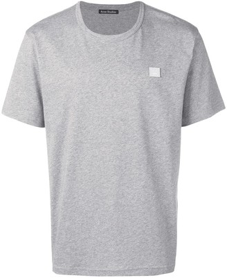 Acne Studios Classic Fit Cotton T-shirt Light Grey