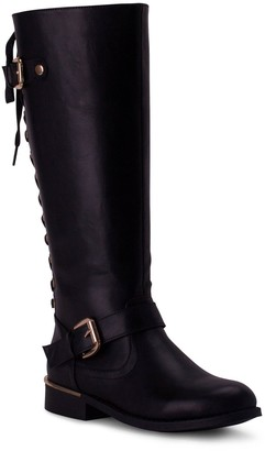 Wanted Tall Lace-Up Boots - Lounge