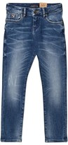 Scotch Shrunk Blue Mid Wash Strummer Skinny Jeans
