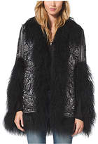Michael Kors Fur-Trimmed Embroidered Coat