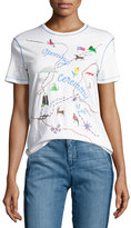 Opening Ceremony Established Short-Sleeve Map Tee, White