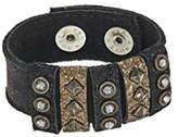 Leather Rock Leather Studded Bracelet
