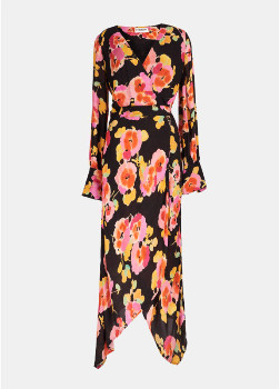 Essentiel Antwerp Black Floral Valoumi Dress - 36
