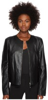 Escada Sport Leandro Leather Jacket Women's Coat