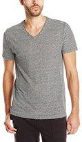 Vince Men's Feeder Stripe Short-Sleeve V-Neck T-Shirt