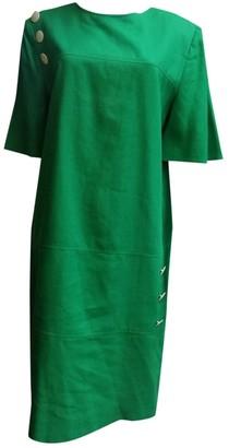 Guy Laroche Green Linen Dresses