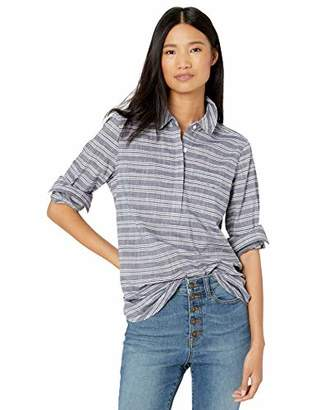 Goodthreads Washed Cotton Popover Tunic Shirt,L