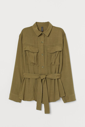H&M Utility shirt with a tie belt