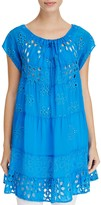 Johnny Was Convertible Tiered Eyelet Tunic