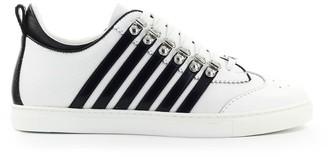 DSQUARED2 251 Low Sole White Black Sneaker