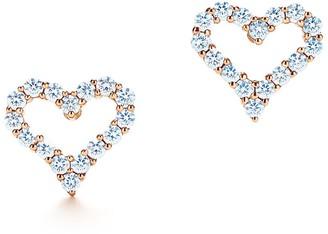 Tiffany & Co. HeartsTM earrings in 18k rose gold with diamonds
