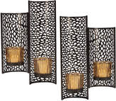 Mikasa Set of 2 Laser Cut Brown Wall Sconces