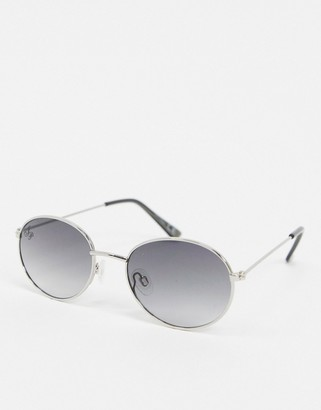Jeepers Peepers round sunglasses in silver