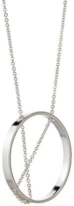 Vanessa Gade Metal + Design Inner Circle Necklace In Sterling Silver