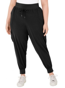 Ideology Plus Size Cargo Jogger Pants, Created for Macy's