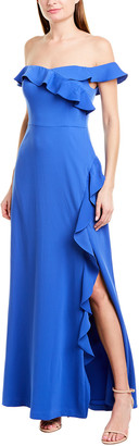 BCBGMAXAZRIA Ruffle Maxi Dress