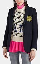 CALVIN KLEIN 205W39NYC Women's Wool Twill Two-Button Blazer - Navy
