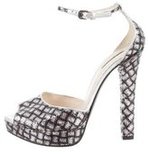 Bottega Veneta Sequin Platforrm Pumps