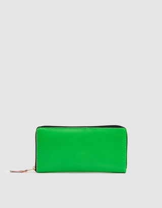 Comme des Garcons Super Flou Leather Wallet SA0110SF in Green
