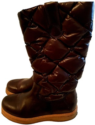 Moncler Brown Rubber Boots