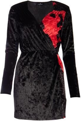 Marcelo Burlon County of Milan Two-Tone V-Neck Mini Dress