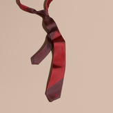 Burberry Slim Cut Striped Jacquard Silk Tie