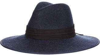 San Diego Hat Company Fedora w/ Double Layer Side Knot Band (Navy) Fedora Hats