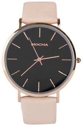 Mocha 41mm Watch - Black/Rose Gold/Blush