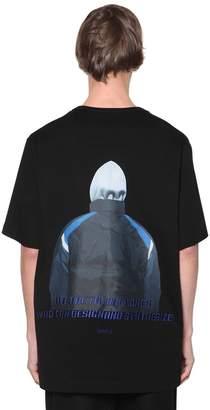 Juun.J Print & Embroidered Jersey T-shirt