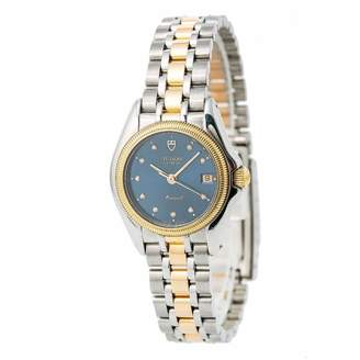 Tudor Blue gold and steel Watches