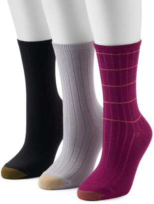 Gold Toe Women's GOLDTOE 3-Pack Ultra Soft Verona Crew Socks