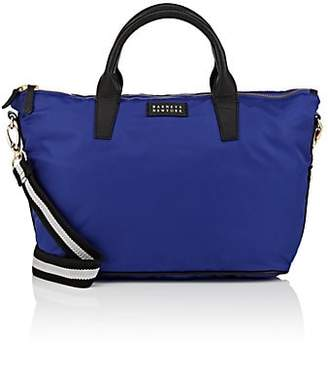 Barneys New York WOMEN'S MONICA TECH-TWILL SATCHEL - BLUE