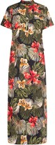 Gisy Tropical Maxi Shirtdress