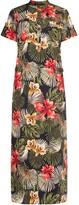 Tropical Maxi Shirtdress