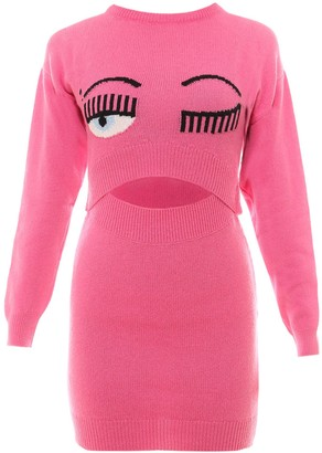 Chiara Ferragni Flirting Eye Cut-Out Detailed Dress