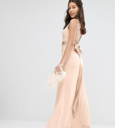 TFNC WEDDING Bow Back Embellished Maxi Dress