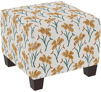 One Kings Lane Berit Kids' Ottoman - Marigold Floral