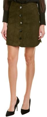 Elie Tahari Leather Mini Skirt