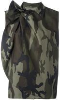 MM6 MAISON MARGIELA camouflage print blouse - women - Cotton - 36
